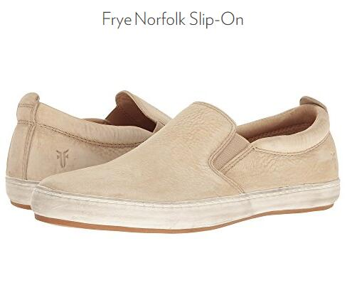 6PM海淘新低!Frye Norfolk 弗莱 男士真皮一脚蹬休闲鞋