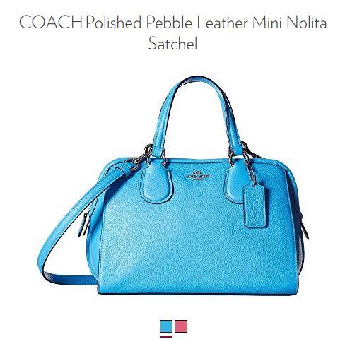 6PM买COACH !COACH 蔻驰 Mini Nolita 女士手提斜挎包