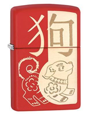 新年礼物,ZIPPO 芝宝 Chinese Zodiac 十二生肖·狗 打火机