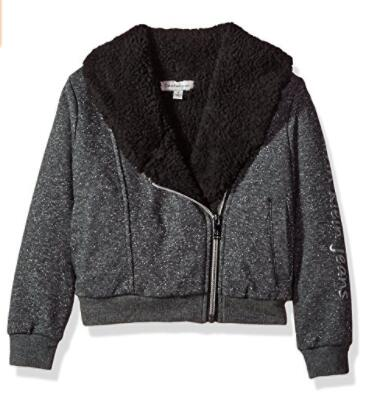 美亚什么值得买!Calvin Klein 卡尔文克莱 Sparkle Moto 童款保暖外套