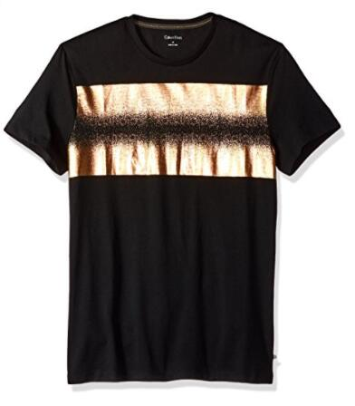 适合美亚凑单!Calvin Klein Distressed Foil Logo 男士T恤