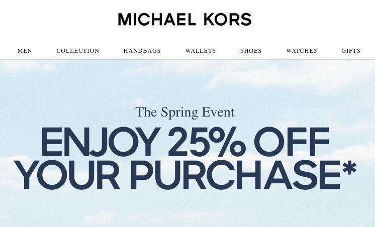 MK(MICHAEL KORS)优惠券2020
