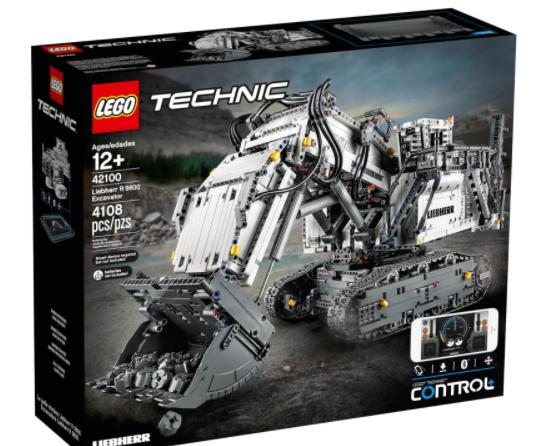 IWOOT海淘LEGO乐高42100利勃海尔R9800遥控挖掘机
