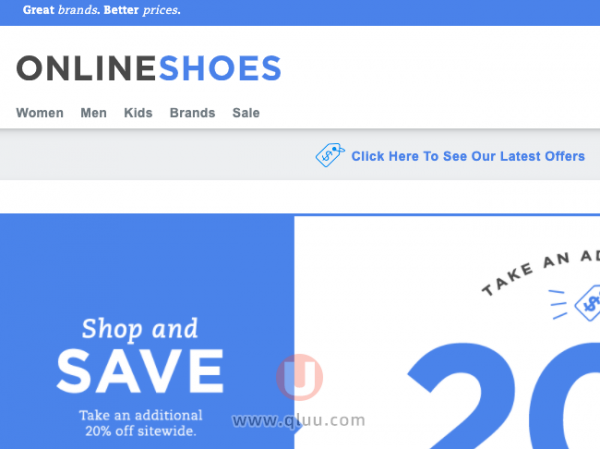Onlineshoes美国官网
