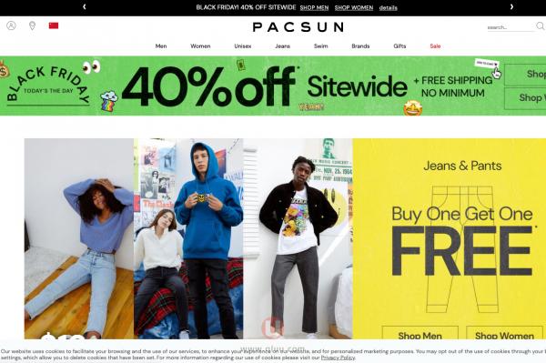 Pacific Sunwear美国官网