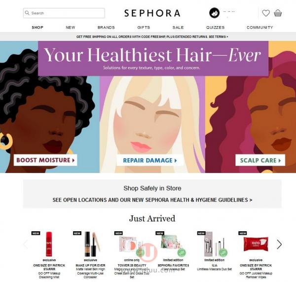 美国Sephora丝芙兰官网官方海淘网站