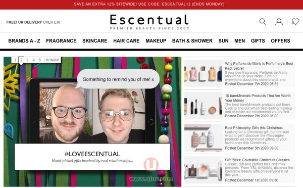 Escentual英国官网英国护肤品化妆品香水海淘网站