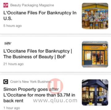 欧舒丹美国破产倒闭了
