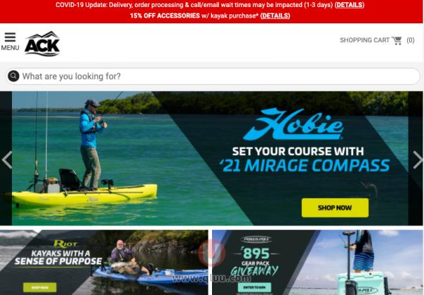 Austin Canoe & Kayak美国网站