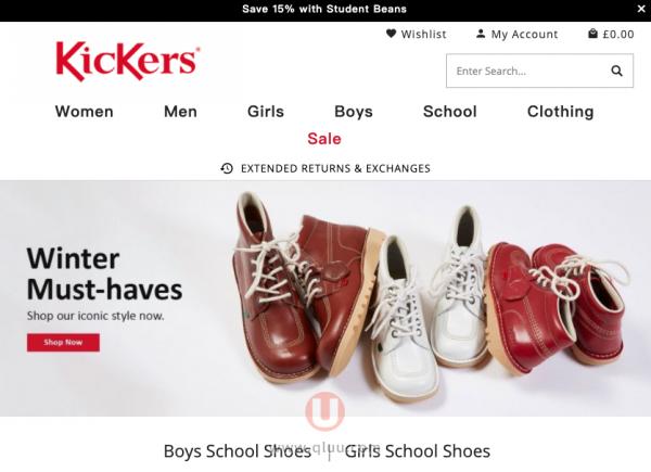 Kickers鞋网站英国品牌官网