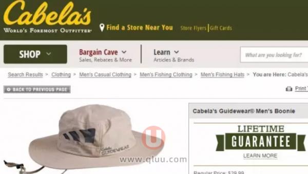 Cabela's美国官网