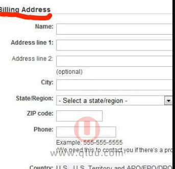 billing address是什么意思如何填写?