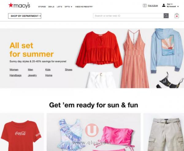 Macy's梅西百货美国网站