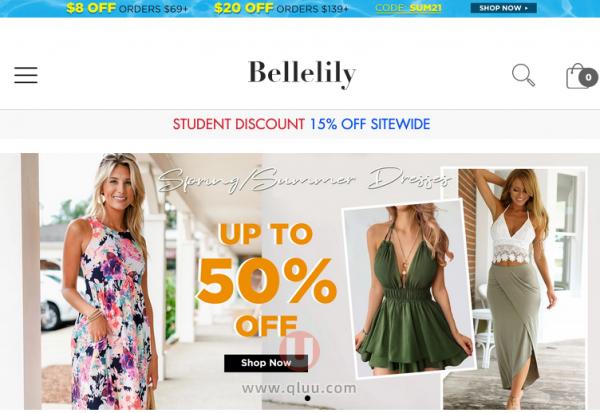 bellelily.com贝拉莉莉官网