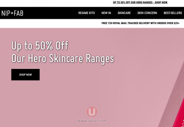 Nip+Fab官网英国彩妆护肤品牌NipandFab优惠折扣券码最新